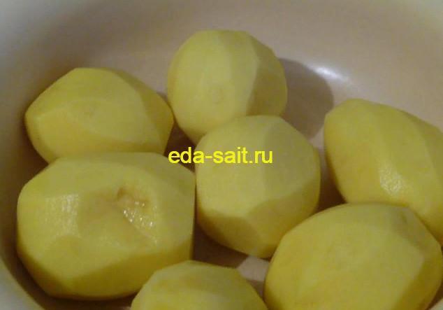 Очищаем картофель для колдунов
