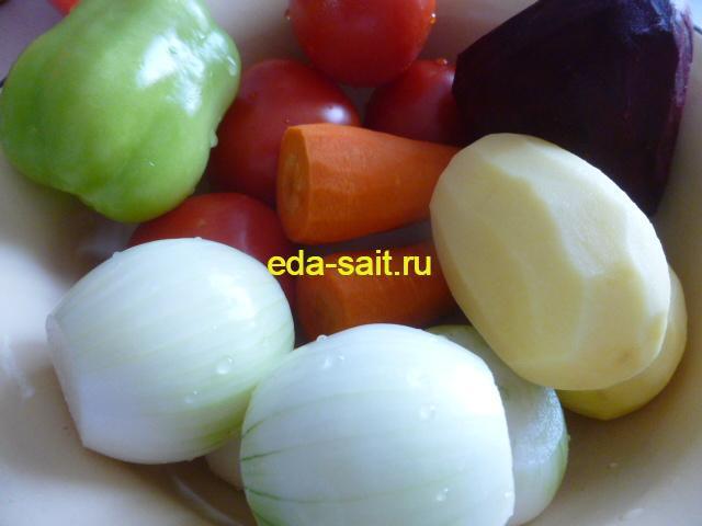 Овощи в лагман