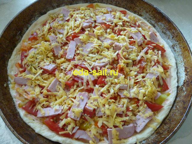 Пицца с ветчиной формирование