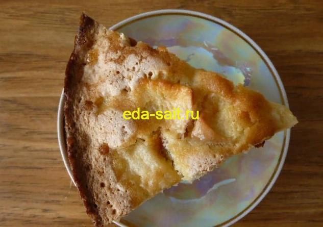 Шарлотка с яблоками фото