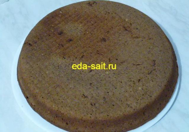 Перекладываем шоколадный кекс на блюдо