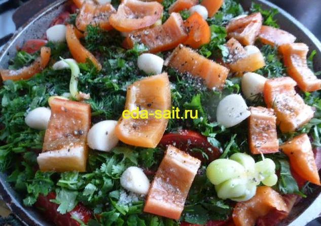 Выкладываем болгарский перец