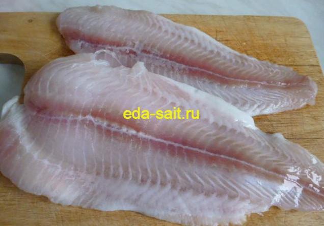 Филе рыбы для плова