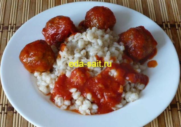Фрикадельки в томатном соусе фото