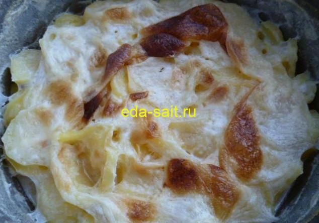 Картофель с молоком в духовке фото