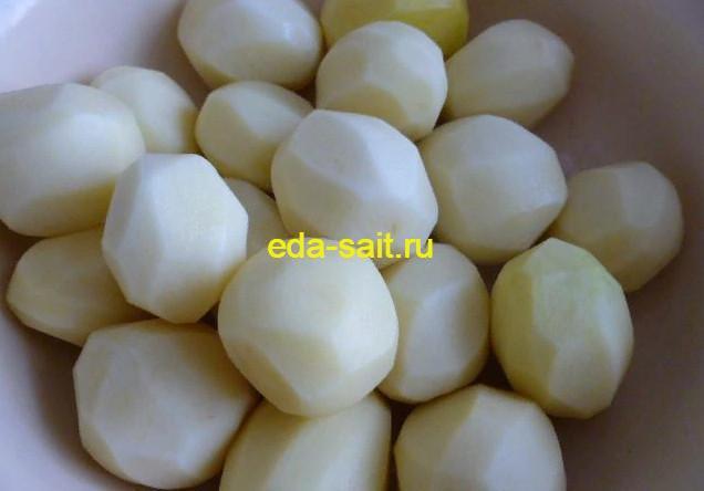 Картошка для запекания с молоком