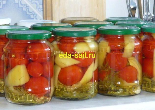 Консервированные помидоры с болгарским перцем