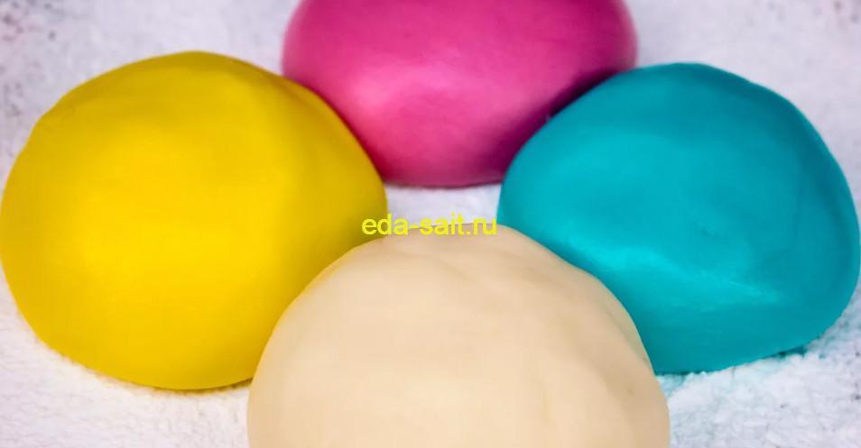 Разноцветная мастика