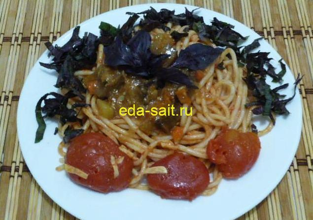 Паста с помидорами фото