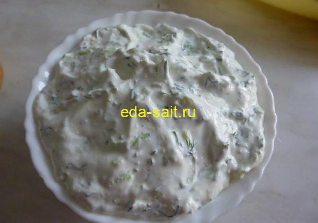 Оладьи из кабачков соус