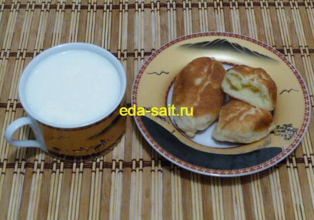 Пирожки с картошкой жареные на сковороде фото
