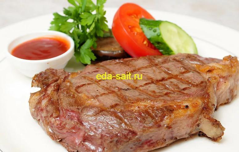 Вкусный стейк из свинины в духовке