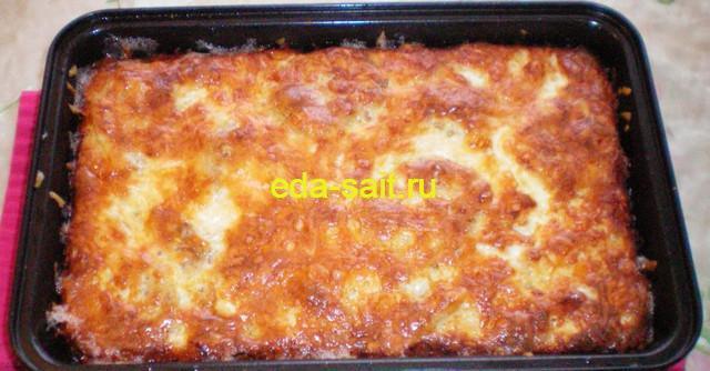 Вареный картофель с сыром в духовке