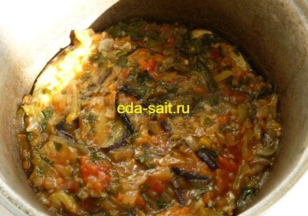 Закуска из баклажанов с овощами рецепт с фото