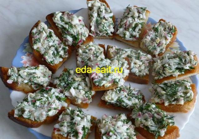 Бутерброды с редисом фото
