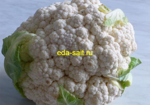 Заморозка овощей и зелени на зиму цветная капуста