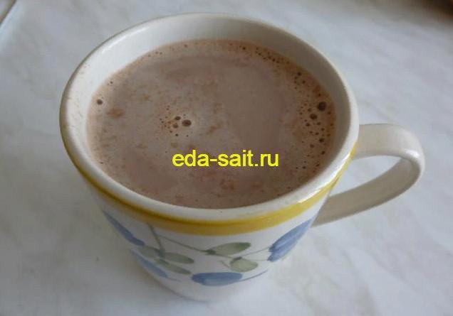 Какао на молоке фото