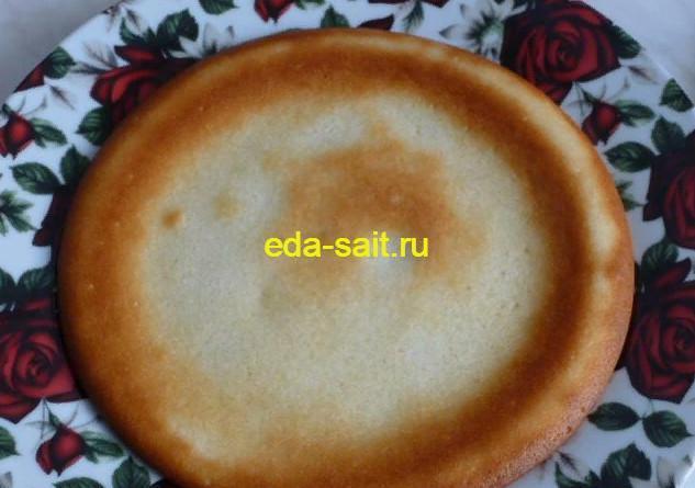 Светлый корж для торта с какао