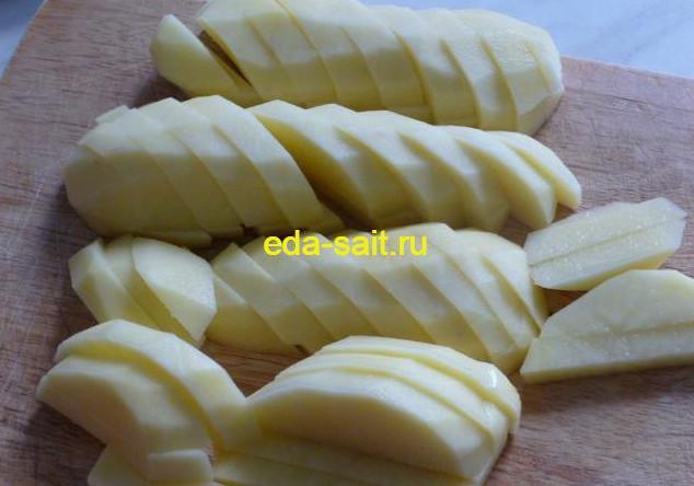 Картошка нарезанная брусочками для супа