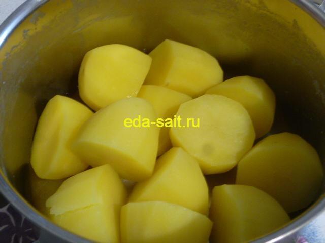 Отваренный картофель для пюре