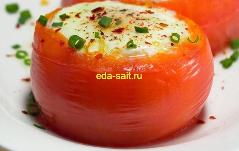 Помидоры фаршированные яйцами и сыром