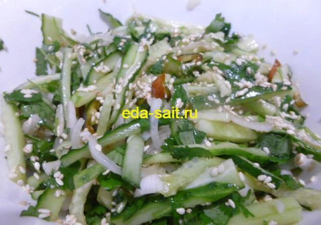 Тайский салат из огурцов