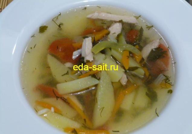 Суп с куриной грудкой и овощами