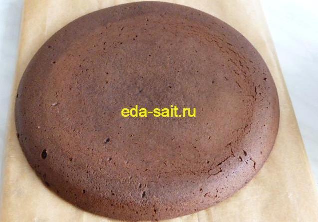 Темный корж для торта с какао