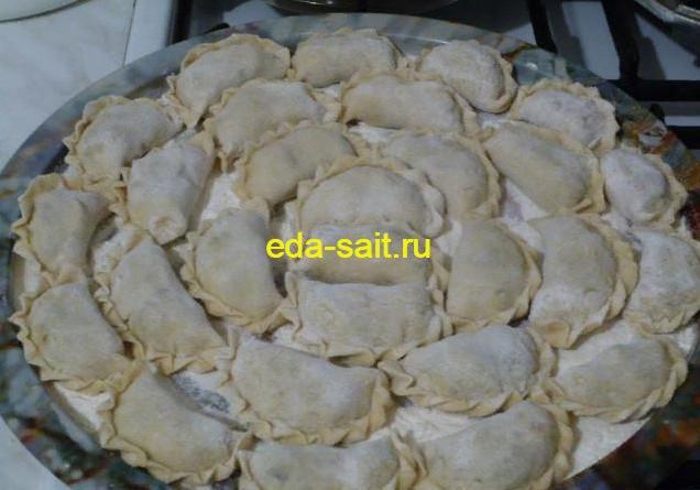 Вареники с фасолью и грибами рецепт с фото