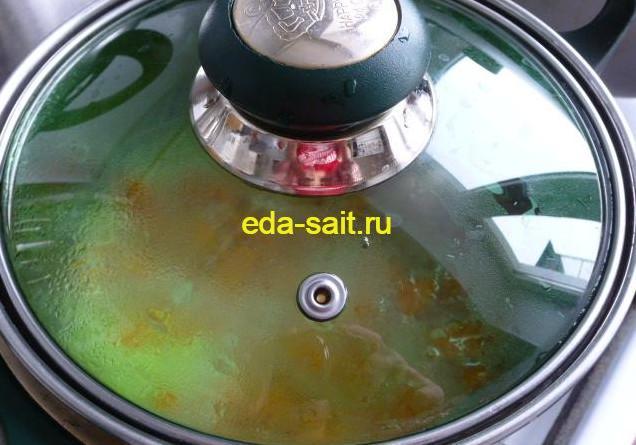 Варим пшенную кашу на воде с морковью