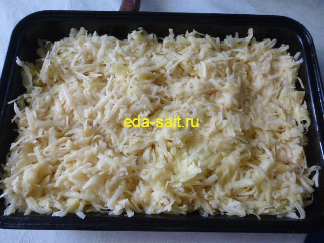 Запеканка с рыбой слой картошки