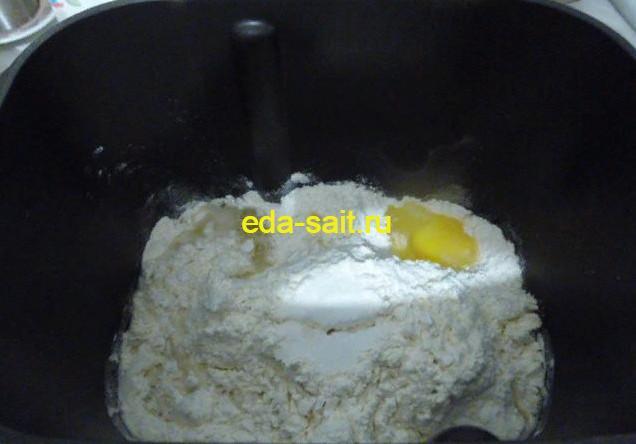 Вареники с фасолью и грибами замешиваем тесто