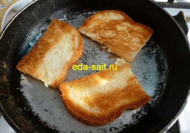 Обжаренный хлеб для бутербродов с яичным паштетом