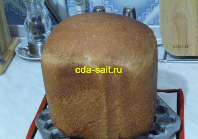 Хлеб на молоке в хлебопечке фото