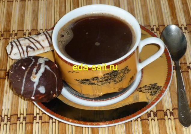 Кофе с корицей и какао