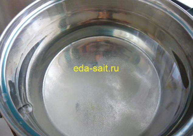 Вода для варки компота