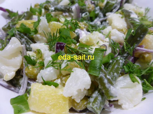 Диетический салат из овощей