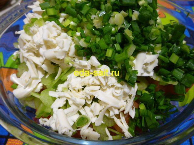 Добавить в салат с куриной грудкой зеленый лук