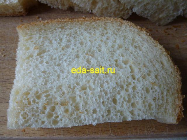 Французский хлеб в разрезе