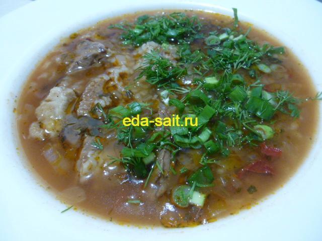 Суп харчо с говядиной фото