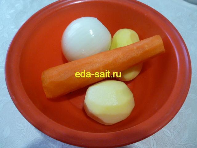 Подготовить овощи в щи из свежей капусты