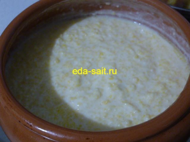 Кукурузная каша на молоке в духовке