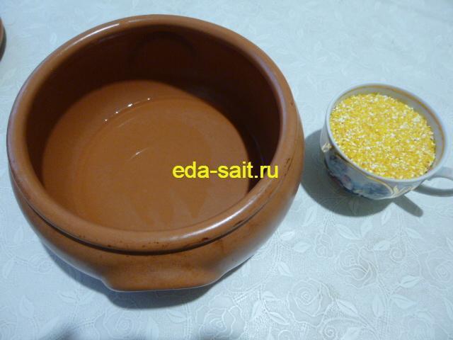Кукурузная крупа для варки на молоке в духовке