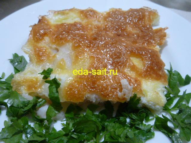 Рыба с сыром и яйцами фото