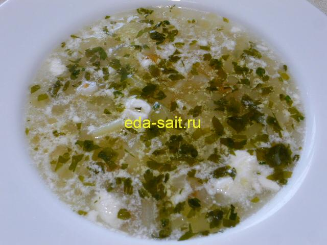 Суп с брынзой фото