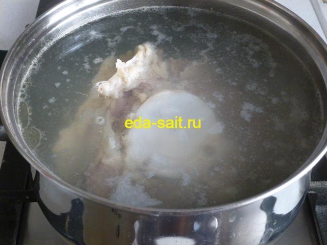 Варим говядину для супа харчо до готовности