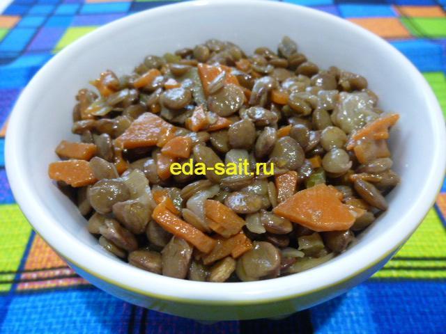 Чечевица с луком и морковью фото