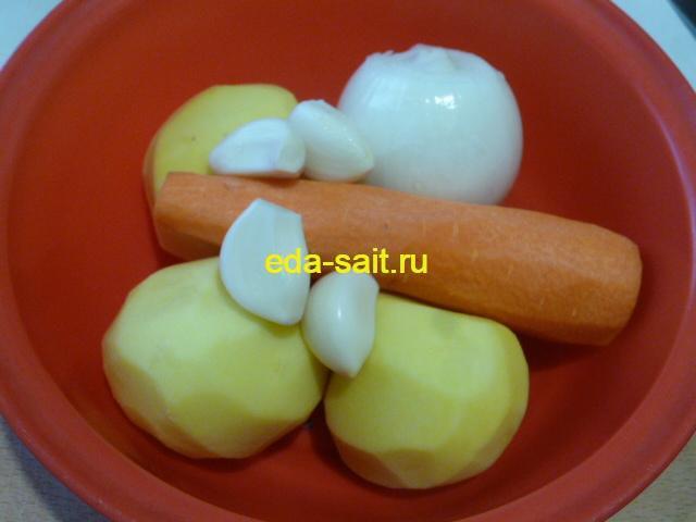 Почистить овощи для рассольника