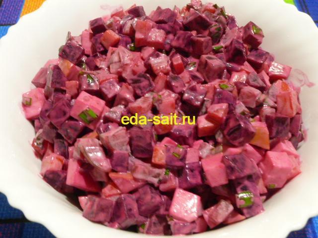 Салат с колбасным сыром и свеклой пошаговый рецепт с фото