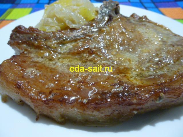 Свиной стейк запеченный фото